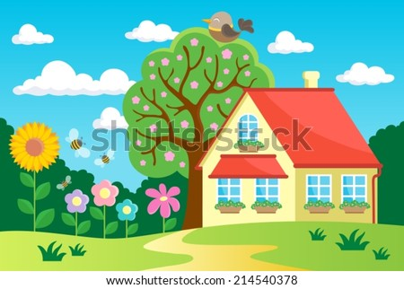 Garden theme image 2 - eps10 vector illustration. - stock vector