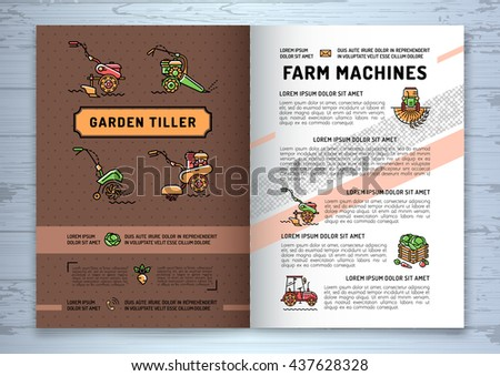 Agriculture flyer stock images royalty free images for Agriculture brochure templates