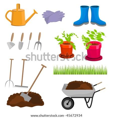 Garden spade stock photos royalty free images vectors for Gardening tools vector