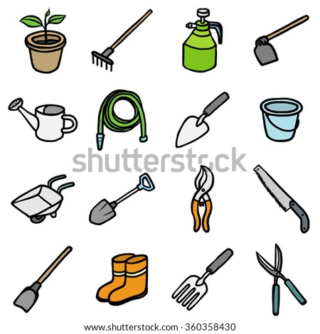 Stock photos royalty free images vectors shutterstock for Gardening tools cartoon