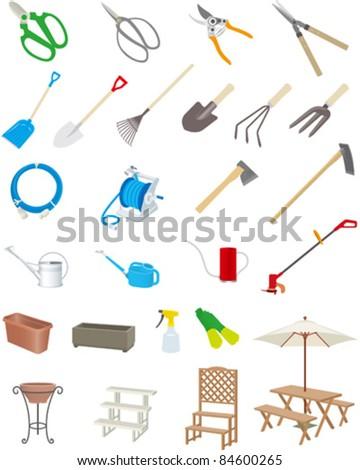 Gardening tools - stock vector