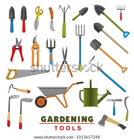 Hoe stock images royalty free images vectors shutterstock for Gardening tools vector