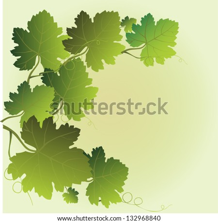 garland of vine leaves