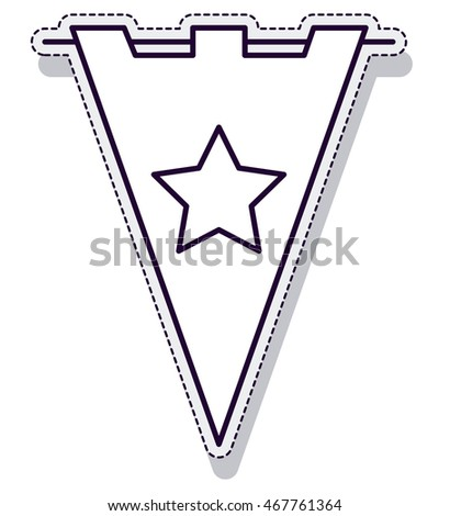 garland triangle party indpendence day vector illustration design