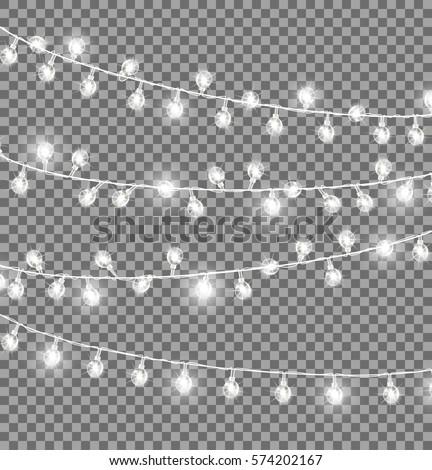 Christmas Light Bulb Border Black And White