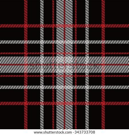 garment industry plaid pattern vector graphic illustration - stock vector