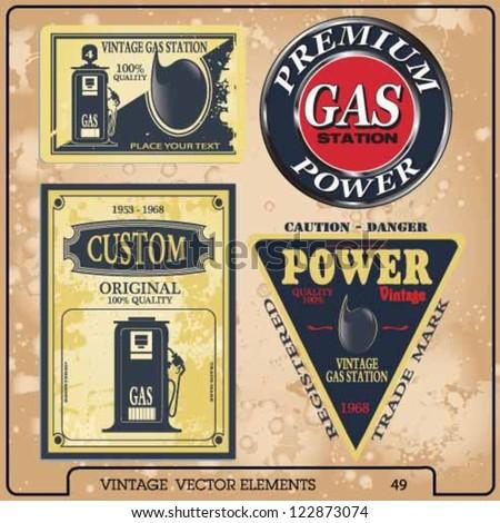 gas - stock vector