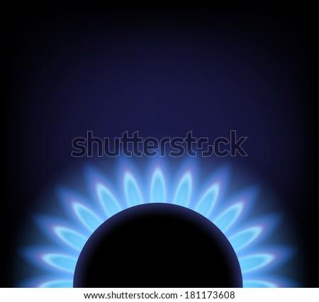gas burner - stock vector