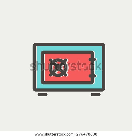 Gas burner icon thin line for web and mobile, modern minimalistic flat design. Vector icon with dark grey outline and offset colour on light grey background. - stock vector