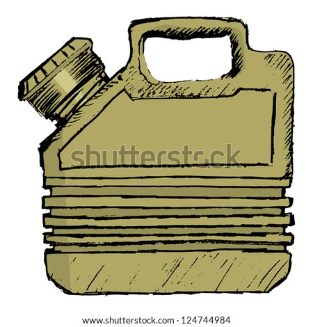 gas can, vector image - stock vector