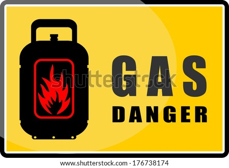 Gas, danger, sticker vector - stock vector