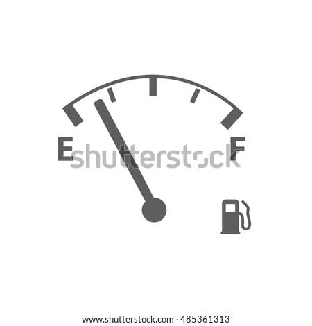 Gas gauge illustration isolated on a white background