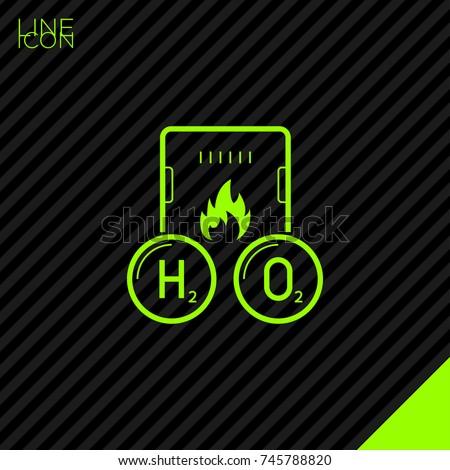 Gas hydrogen peroxide boiler line vector stock vector 745788820 gas hydrogen peroxide boiler line vector icon urtaz Images
