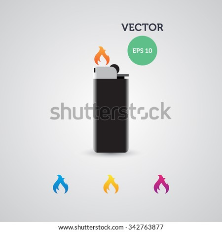 gas lighter. Design template. Vector Illustration, eps 10