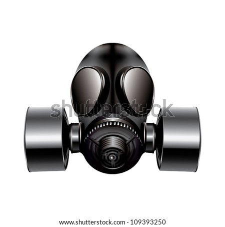 gas mask on white background - vector - stock vector