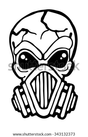 gas mask skull vector illustration stock vector 343132373 shutterstock rh shutterstock com Skull Mask Drawing skull mask vector