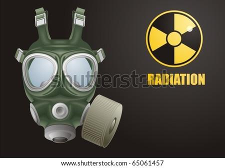 Gas mask vector - stock vector