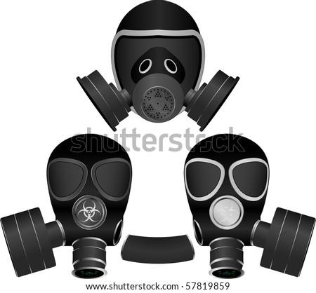 gas masks. vector illustration for design - stock vector