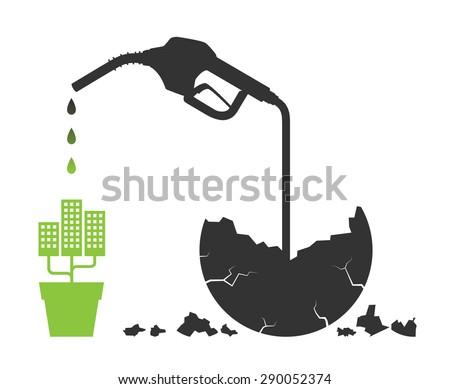 Gas Nozzle concept art - stock vector
