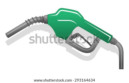 Gas Nuzzle green - stock vector