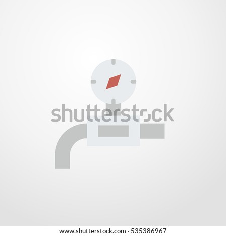 gas pipe icon illustration isolated vector sign symbol