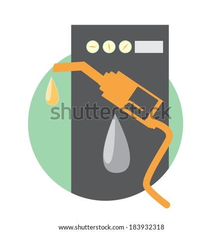 Gas pump icons. Vector.  - stock vector