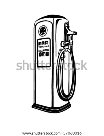 gas pump retro clip art stock vector 57060016 shutterstock rh shutterstock com gas pump clip art free old gas pump clipart