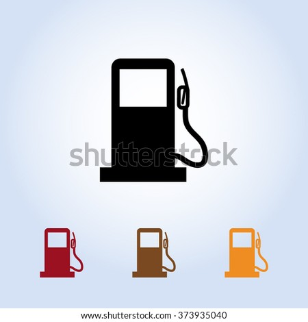 Gas pump sign icon, vector illustration. Flat design style