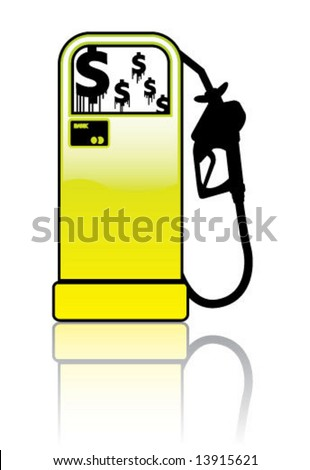 Gas Pump Station Stand - stock vector