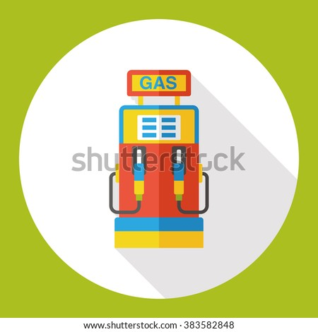 gas station flat icon