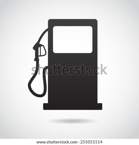 Gas station icon isolated on white background. Vector art. - stock vector