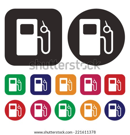 gas station icon . petrol station icon - stock vector