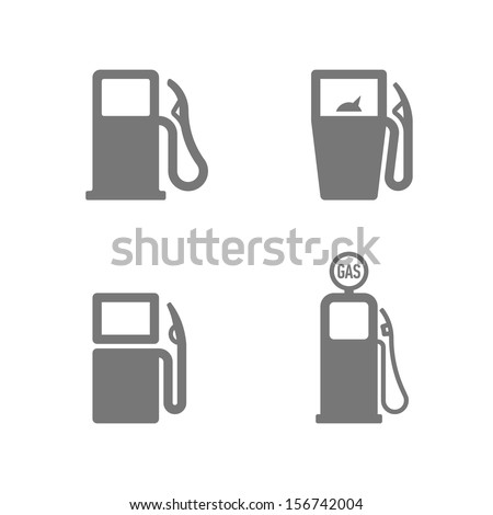 Gas Station icons. Fuel, gas, gasoline, oil, petrol signs. Vector illustration. - stock vector