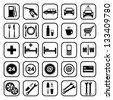 Gas station icons. vector - stock vector