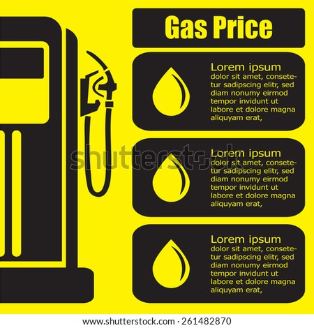 gas station price display. Vector EPS 10.  - stock vector