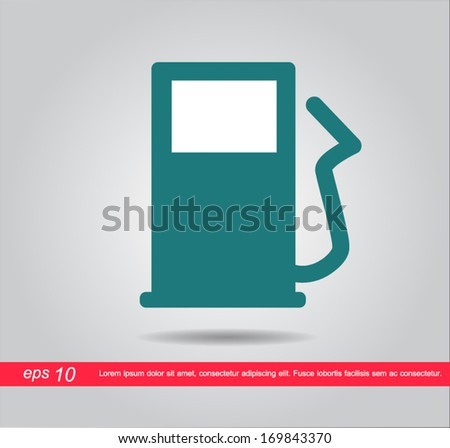 Gas station pump victor icon - stock vector