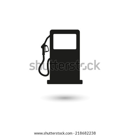gas station sign - vector icon - stock vector