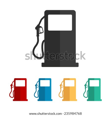 gas station sign - vector icon, flat design - stock vector