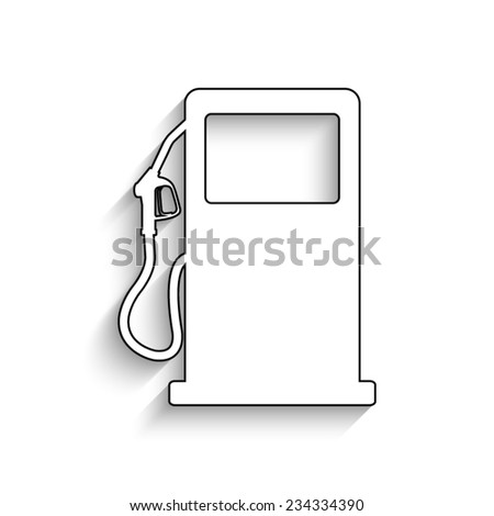 gas station sign - vector icon with shadow