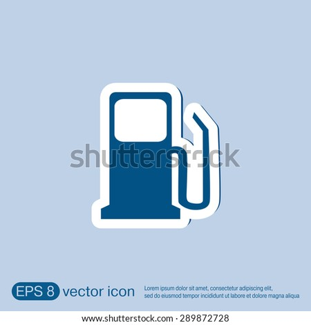 Gas Station Symbol Gas Station Gasoline Stock Vector 299998280