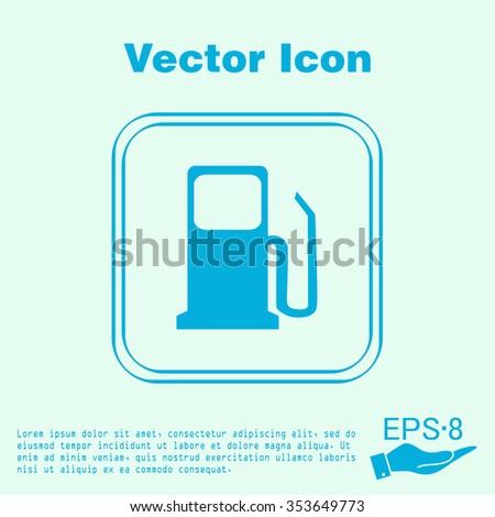 Gas Station Symbol Gas Station Gasoline Stock Vector 353649773