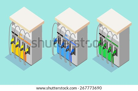 Gas station vector - stock vector