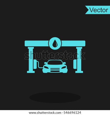 Gas station vector icon.