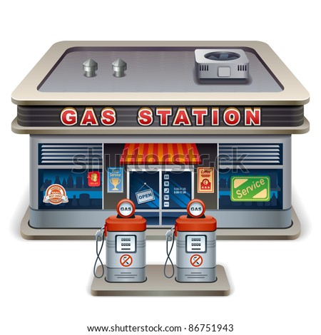 Gas station. XXL icon - stock vector
