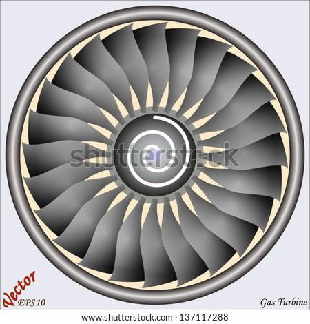 Gas Turbine - stock vector