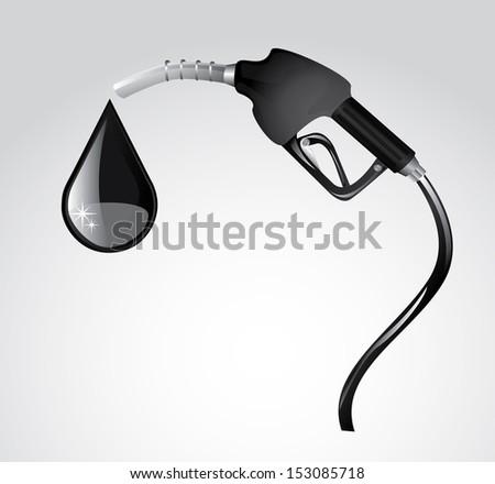 gasoline dispenser over gray background vector,illustration  - stock vector