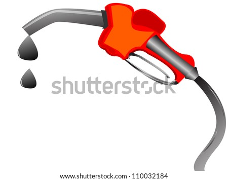 gasoline dispenser throwing money, vector illustration