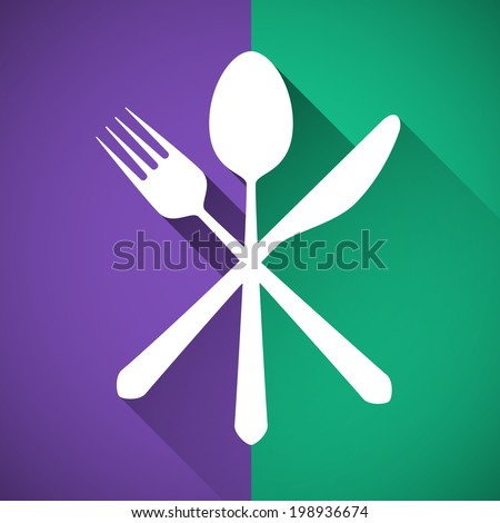 Gastronomy - Restaurant symbol, fork, knife and spoon - stock vector