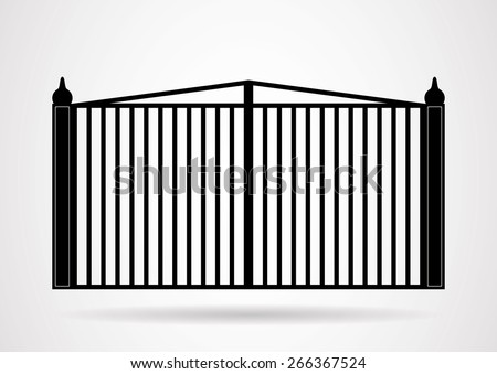 Gate icon illustration. Vector EPS10. - stock vector