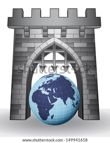 gate pass to world to visit africa vector illustration